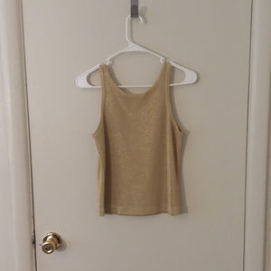 Cache Tops - Vintage Cache Gold Shimmer Tank Top